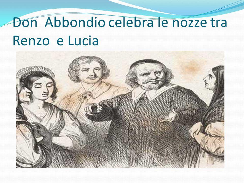 Don Abbondio celebra le nozze tra Renzo e Lucia