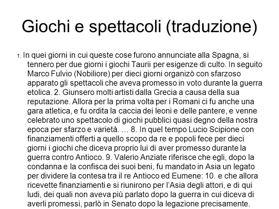 Giochi e spettacoli (traduzione)