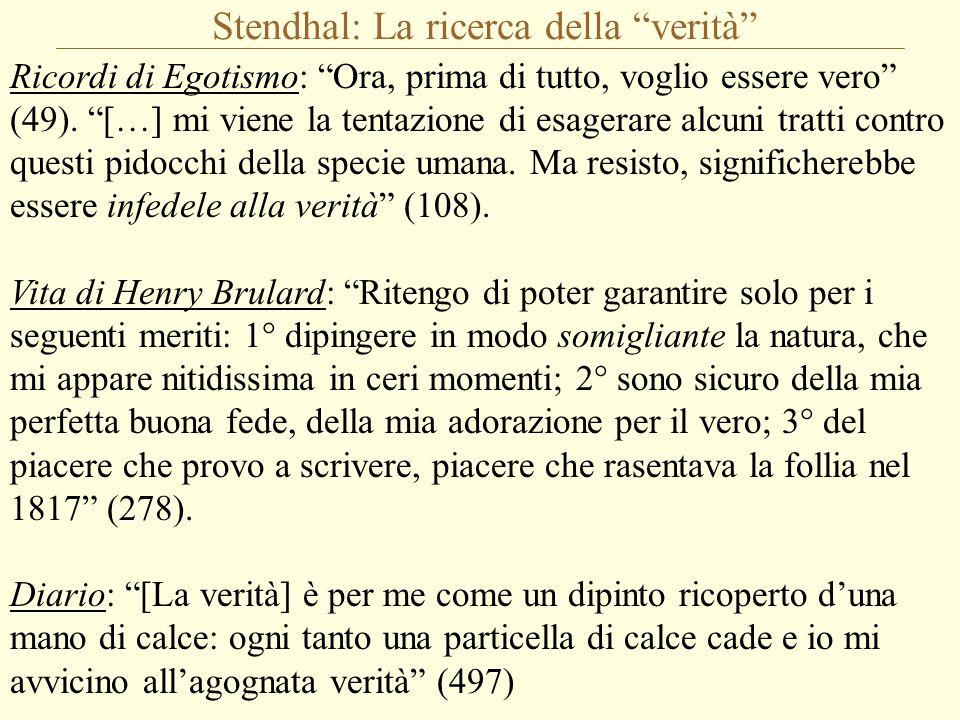 Stendhal: La ricerca della verità
