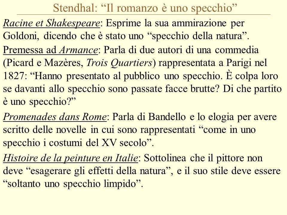 Stendhal: Il romanzo è uno specchio