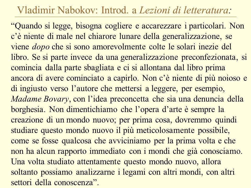 Vladimir Nabokov: Introd. a Lezioni di letteratura: