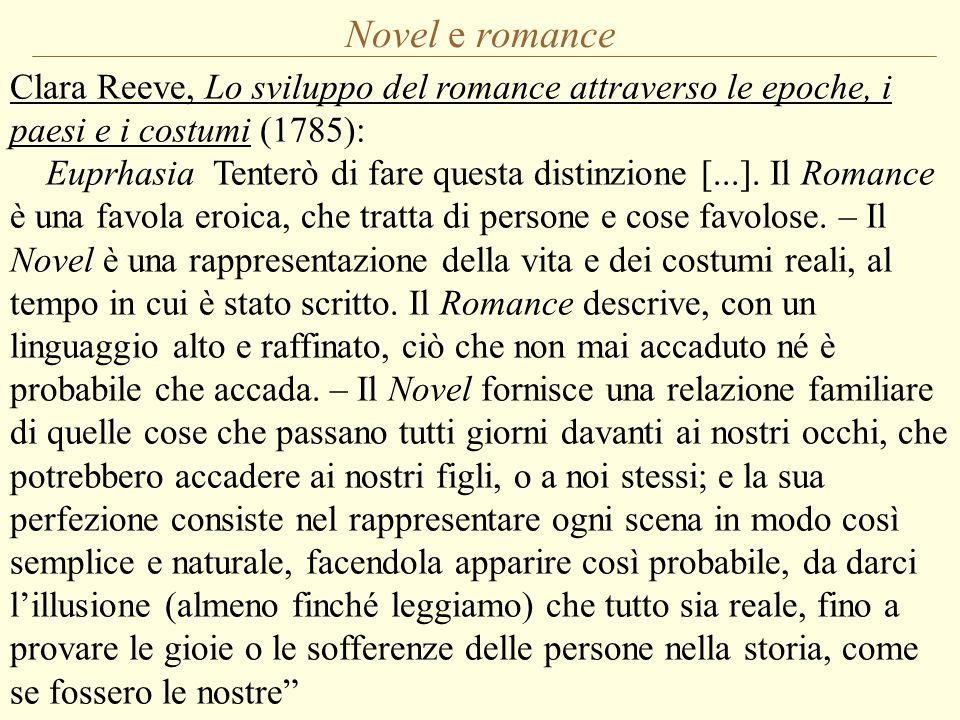 Novel e romance Clara Reeve, Lo sviluppo del romance attraverso le epoche, i paesi e i costumi (1785):
