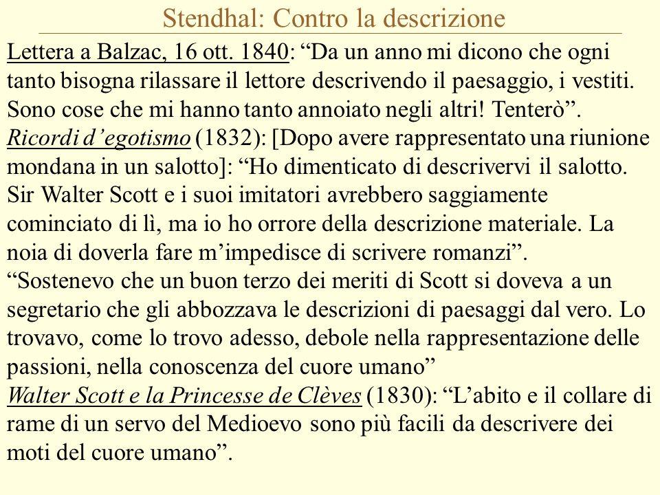 Stendhal: Contro la descrizione