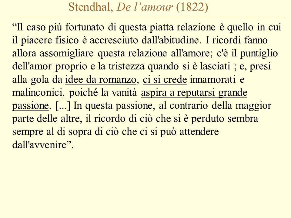 Stendhal, De l'amour (1822)