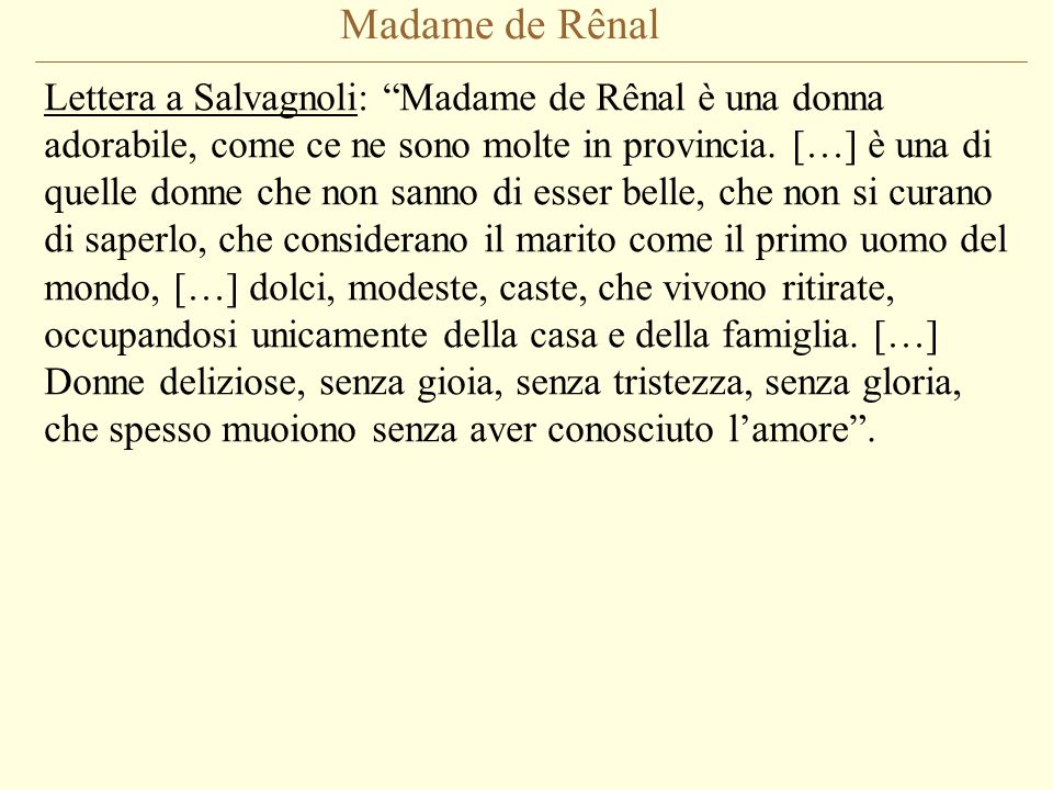 Madame de Rênal