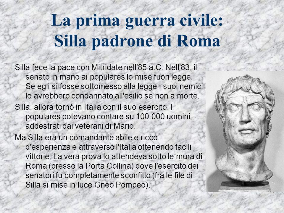 La prima guerra civile: Silla padrone di Roma