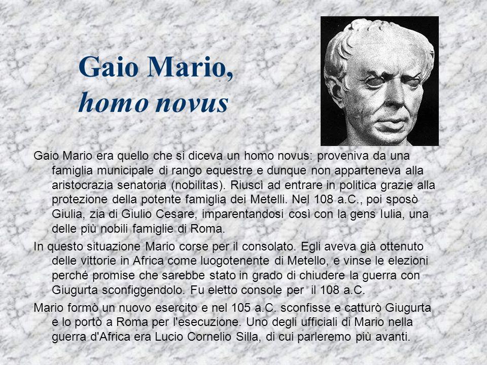 Gaio Mario, homo novus