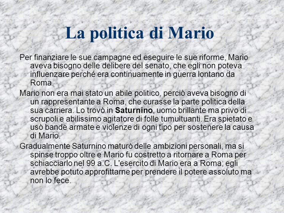La politica di Mario