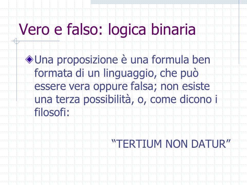 Vero e falso: logica binaria