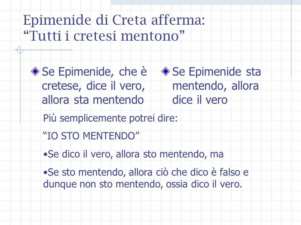 Epimenide di Creta afferma: Tutti i cretesi mentono