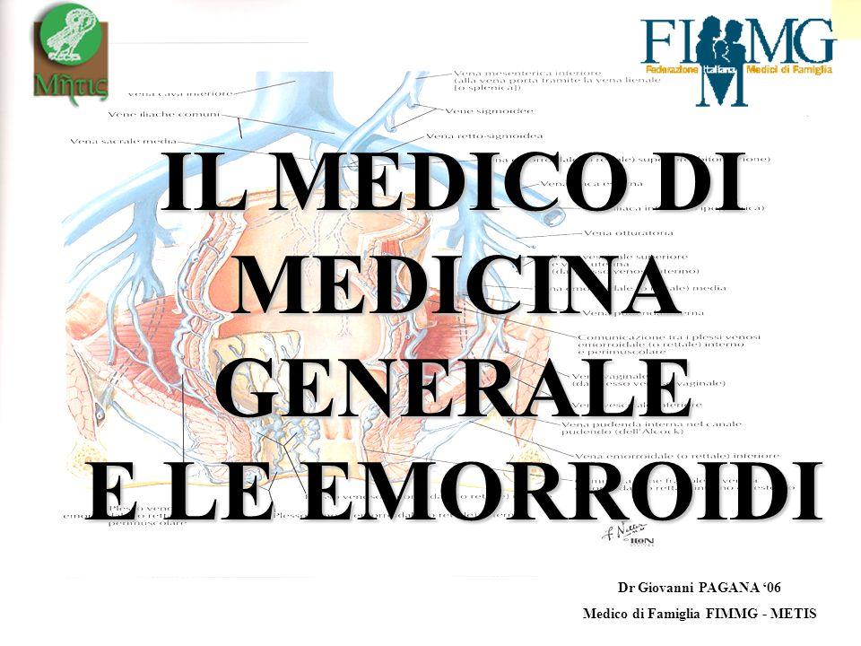 IL MEDICO DI MEDICINA GENERALE Medico di Famiglia FIMMG - METIS