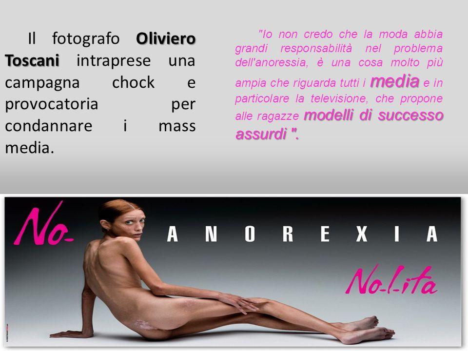 Il fotografo Oliviero Toscani intraprese una campagna chock e provocatoria per condannare i mass media.