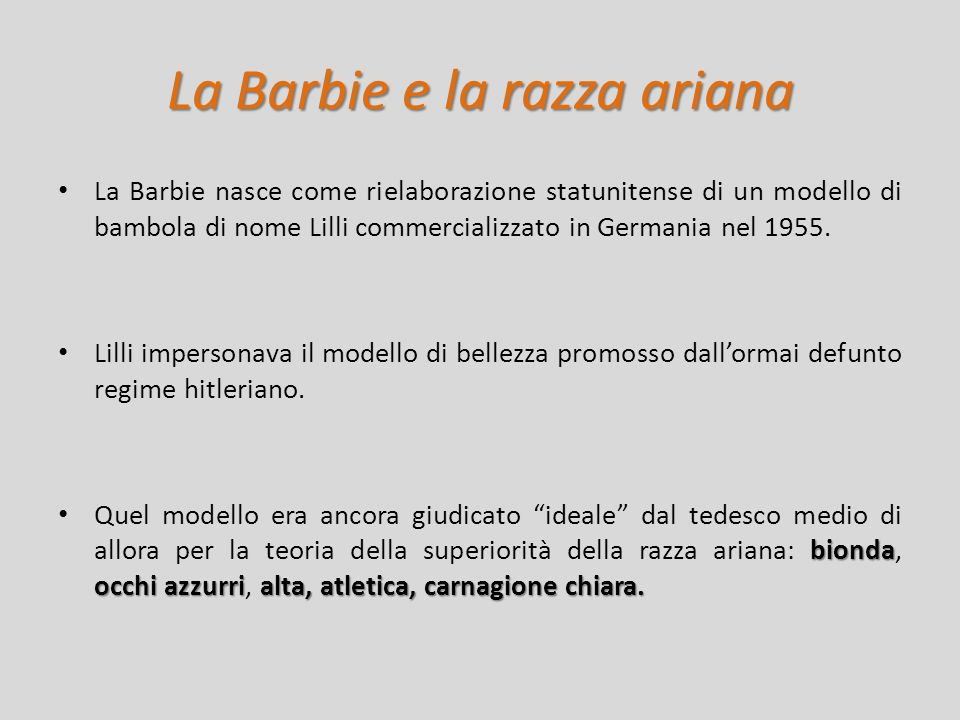 La Barbie e la razza ariana