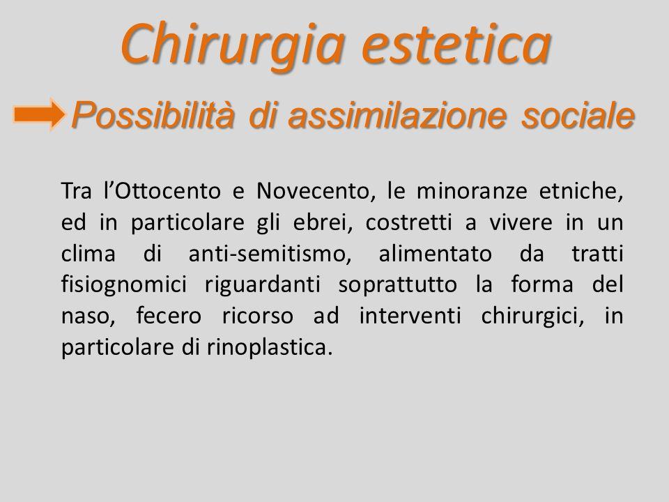 Chirurgia estetica Possibilità di assimilazione sociale
