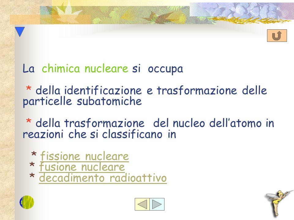 La chimica nucleare si occupa