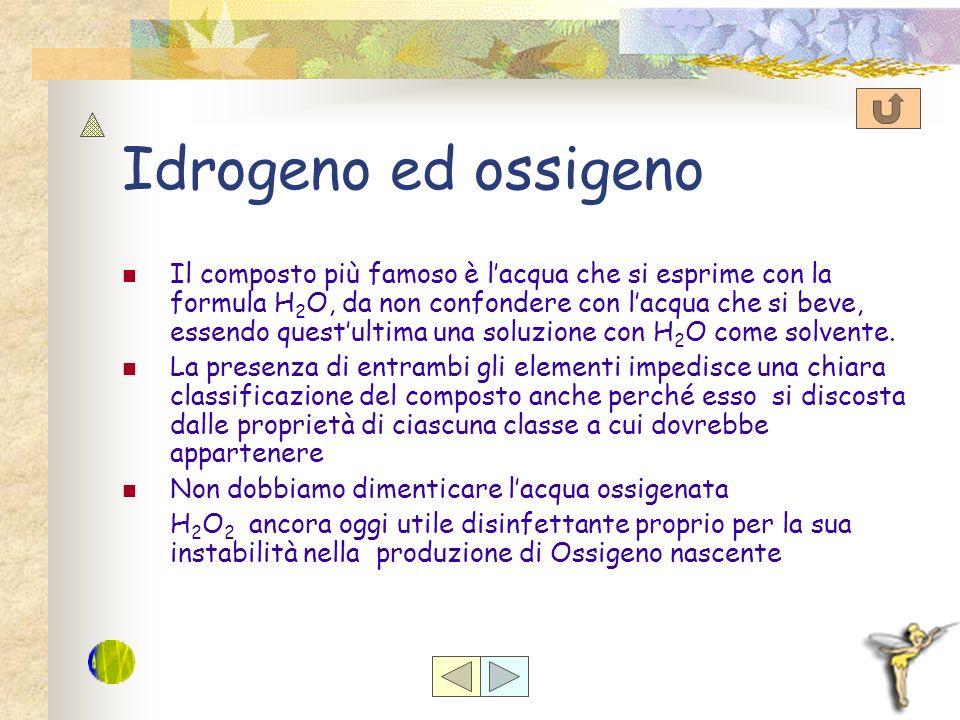 Idrogeno ed ossigeno