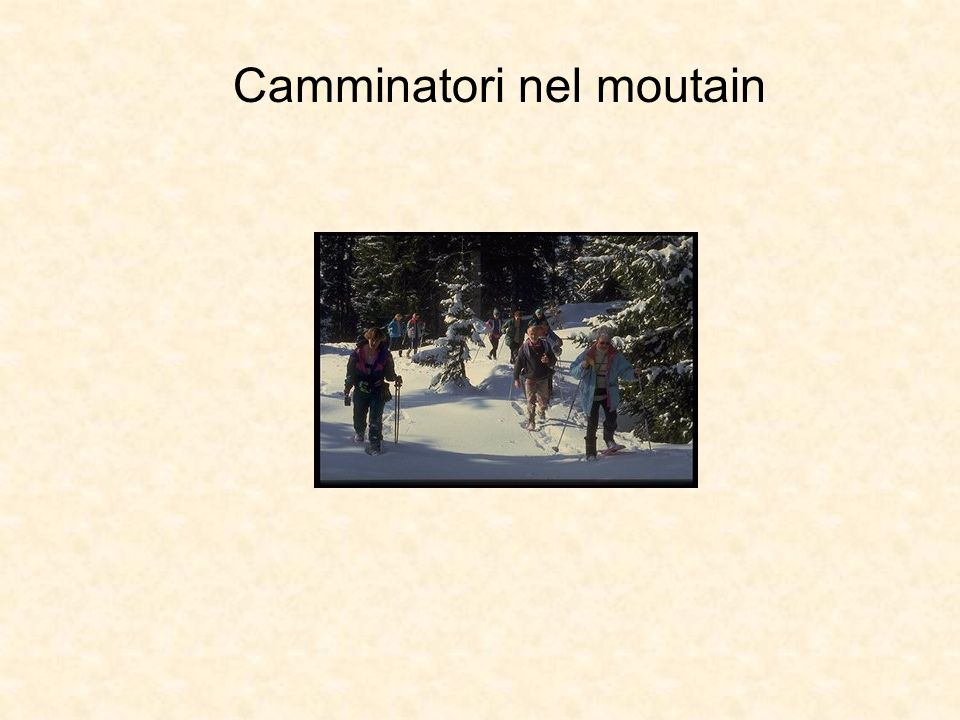 Camminatori nel moutain