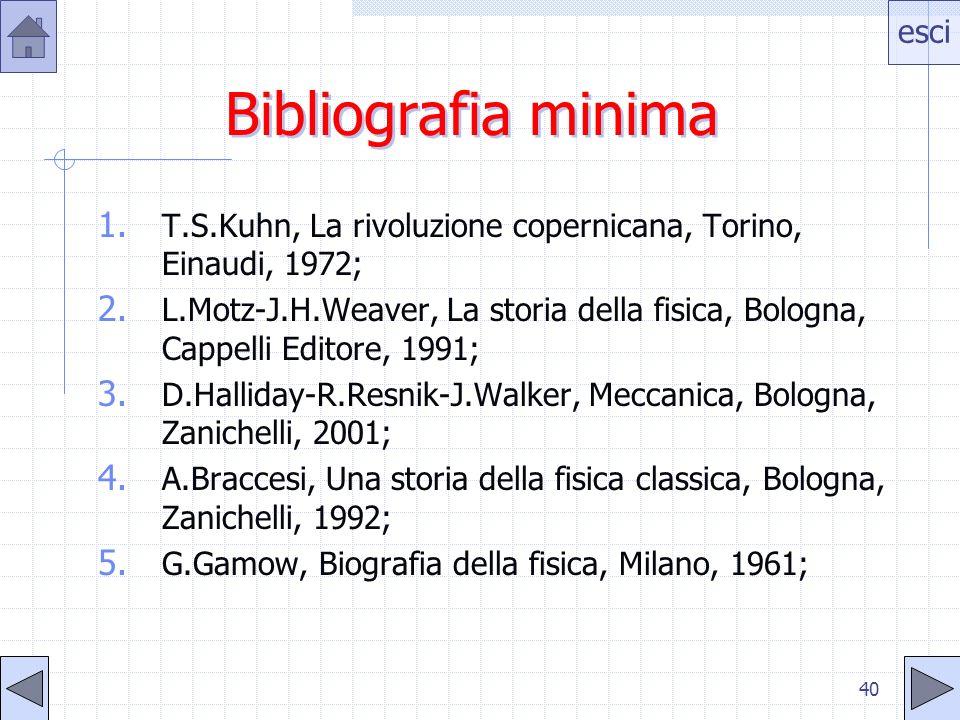 Bibliografia minima T.S.Kuhn, La rivoluzione copernicana, Torino, Einaudi, 1972;