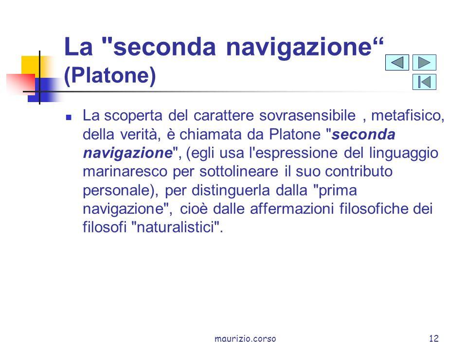 La seconda navigazione (Platone)