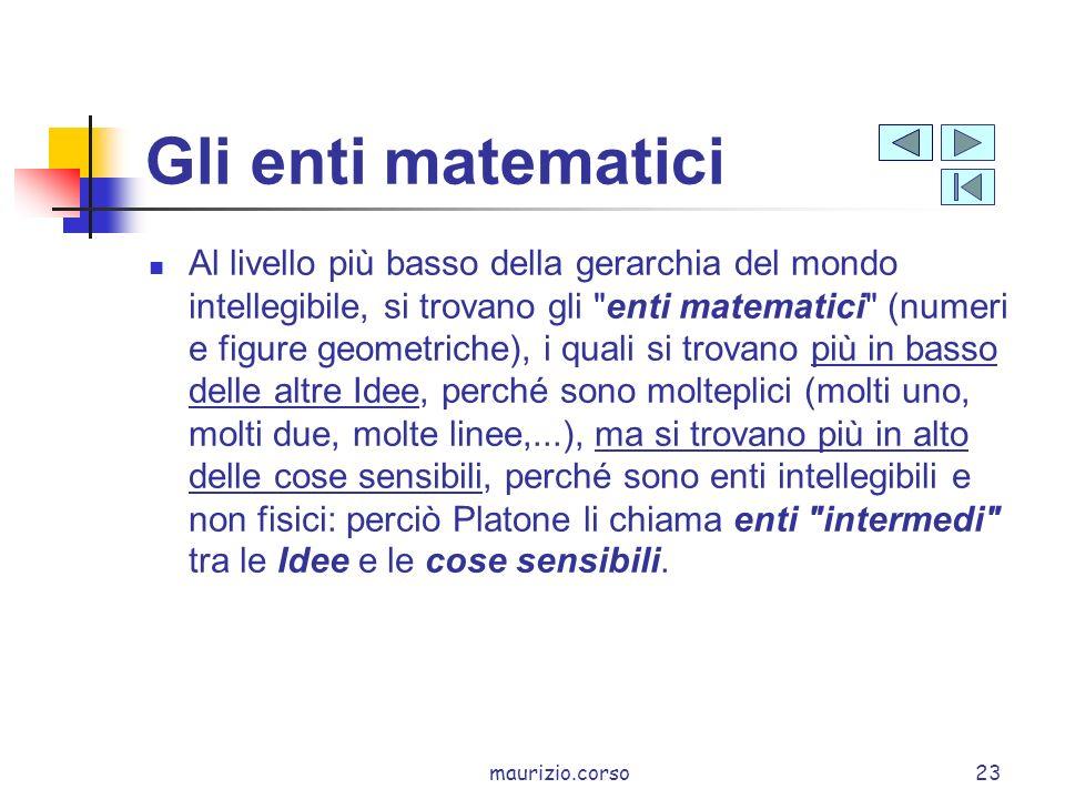 Gli enti matematici