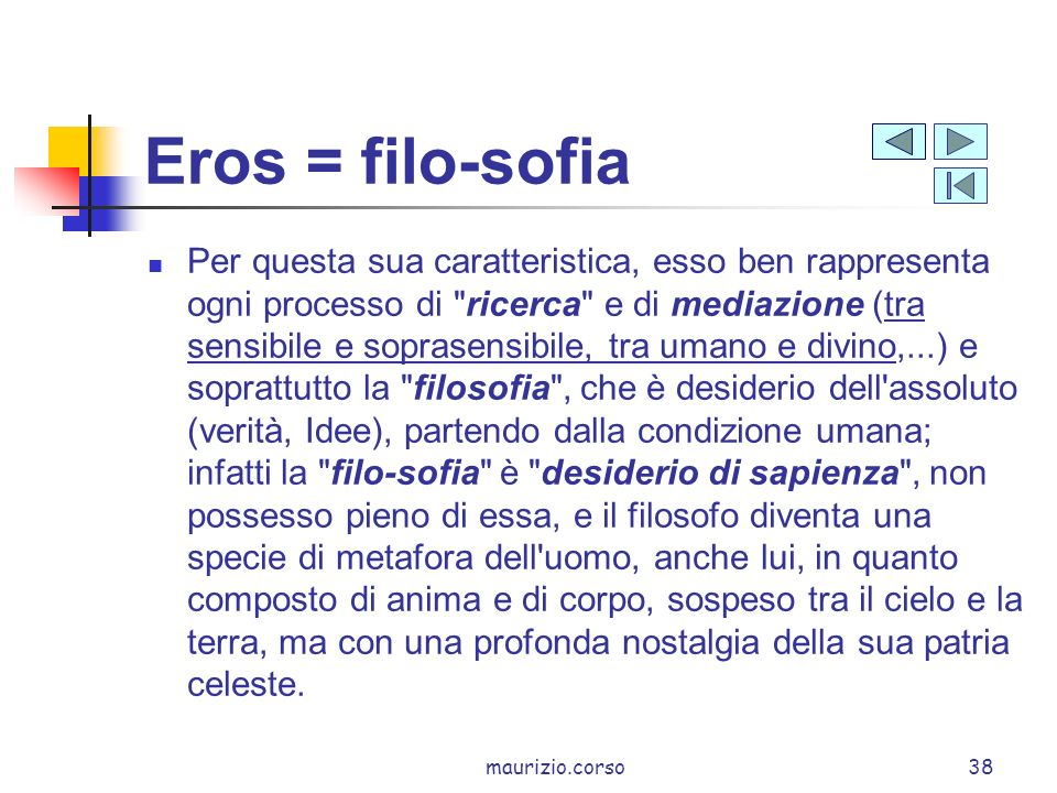 Eros = filo-sofia