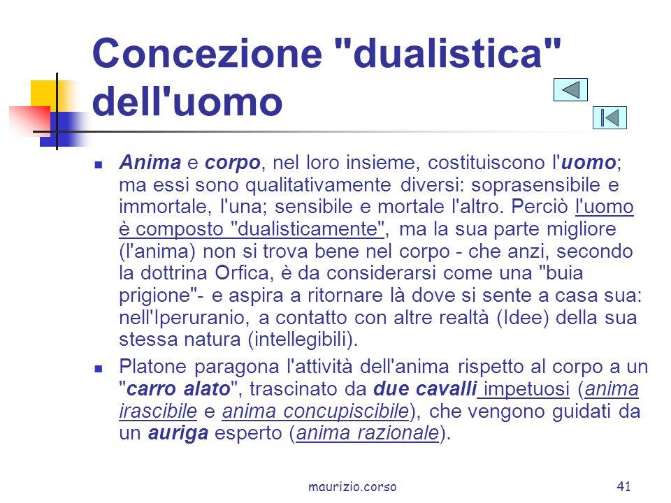 Concezione dualistica dell uomo