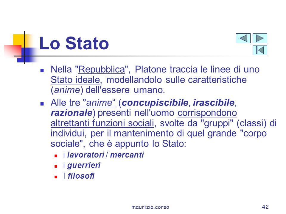Lo Stato Nella Repubblica , Platone traccia le linee di uno Stato ideale, modellandolo sulle caratteristiche (anime) dell essere umano.