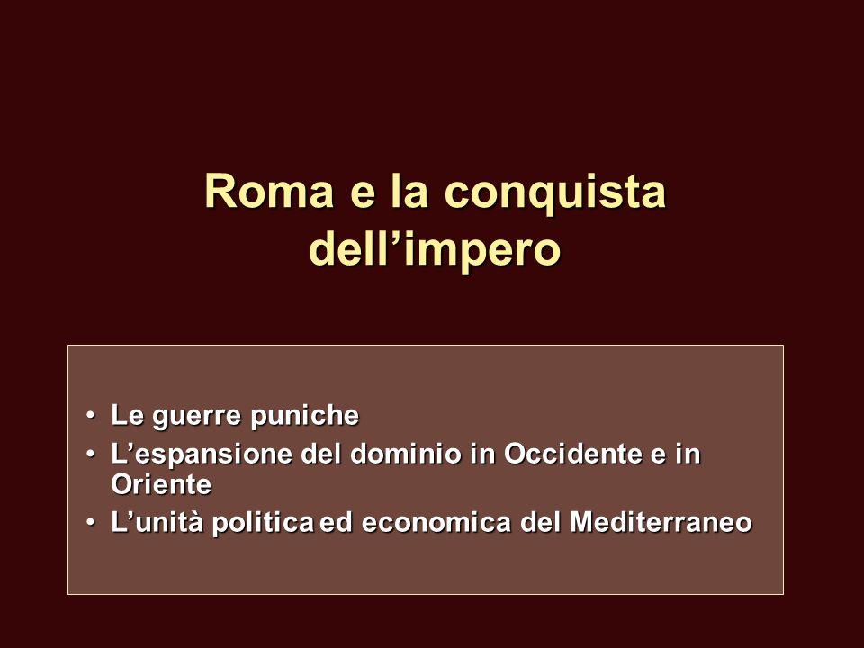 Roma e la conquista dell'impero