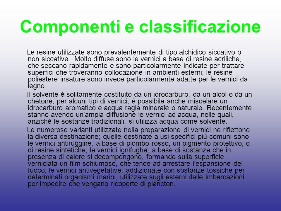 Componenti e classificazione