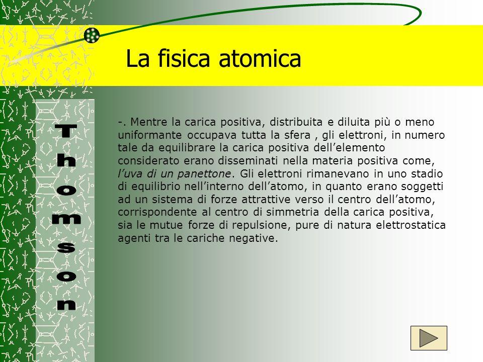 La fisica atomica Thomson