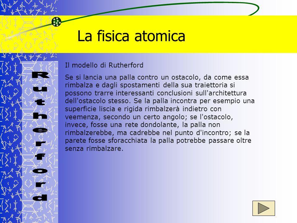 La fisica atomica Rutherford Il modello di Rutherford