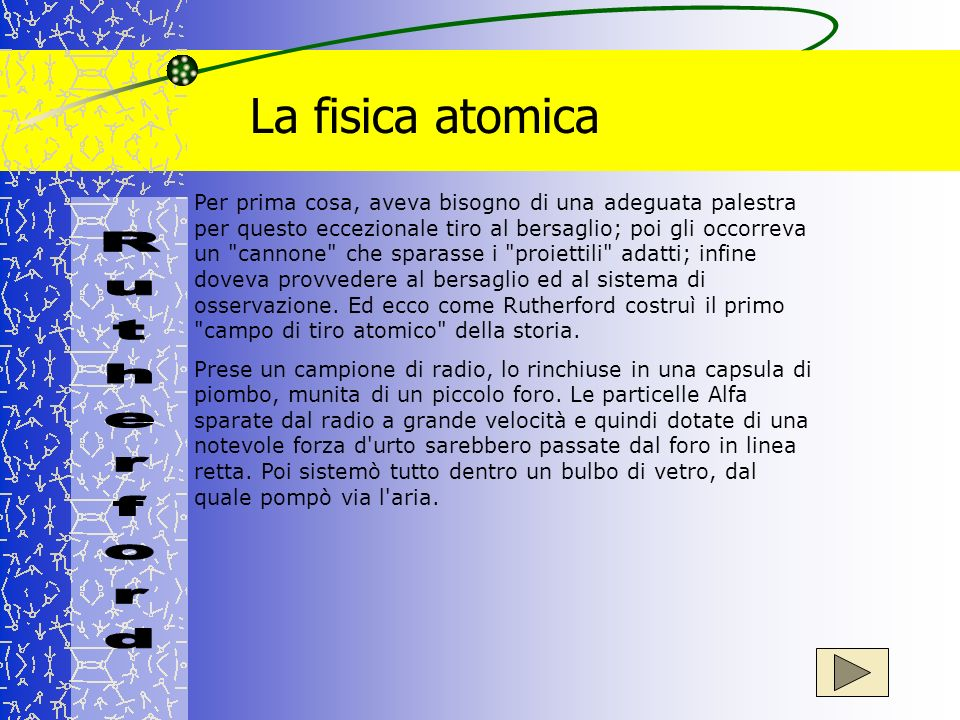 La fisica atomica Rutherford