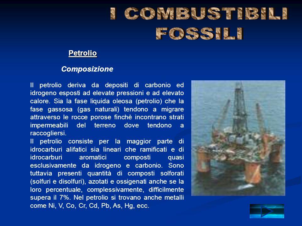 I COMBUSTIBILI FOSSILI Petrolio Composizione