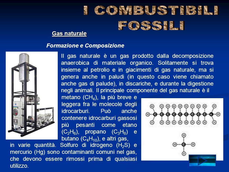 I COMBUSTIBILI FOSSILI Gas naturale Formazione e Composizione