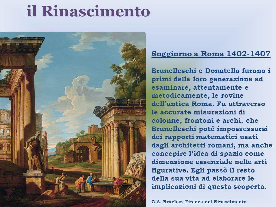 il Rinascimento Soggiorno a Roma 1402-1407