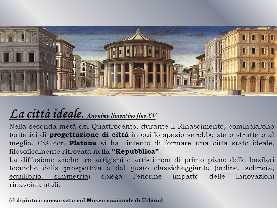 La città ideale. Anonimo fiorentino fine XV