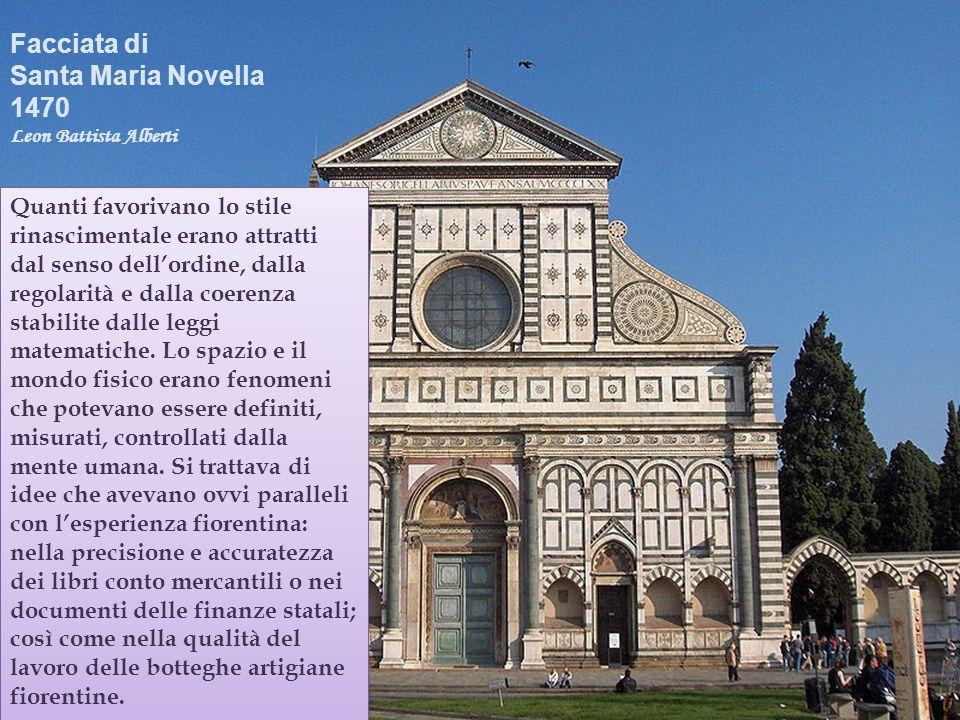 Facciata di Santa Maria Novella 1470