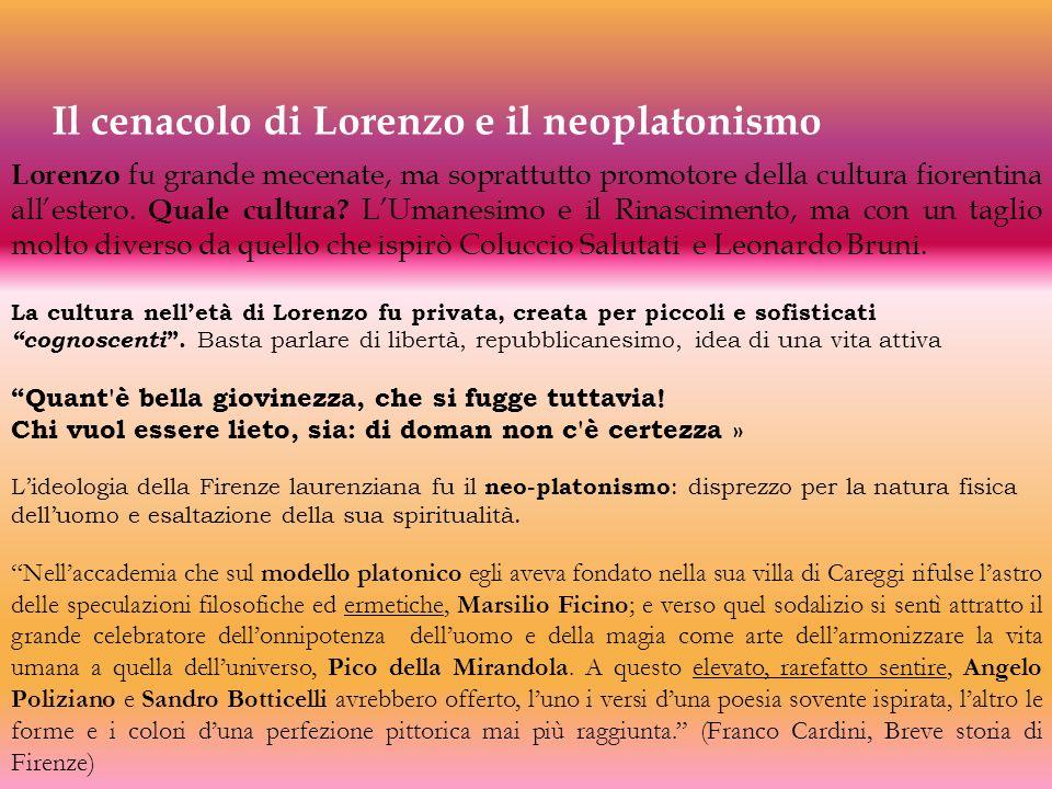 Il cenacolo di Lorenzo e il neoplatonismo