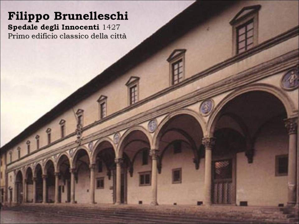 Filippo Brunelleschi Spedale degli Innocenti 1427