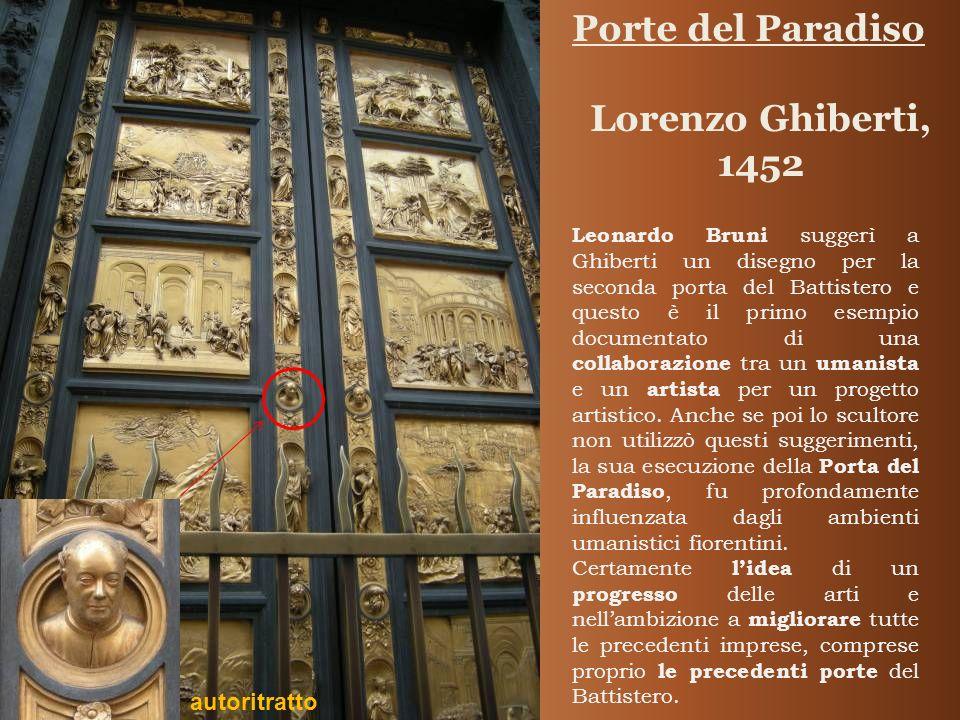 Porte del Paradiso Lorenzo Ghiberti, 1452 autoritratto