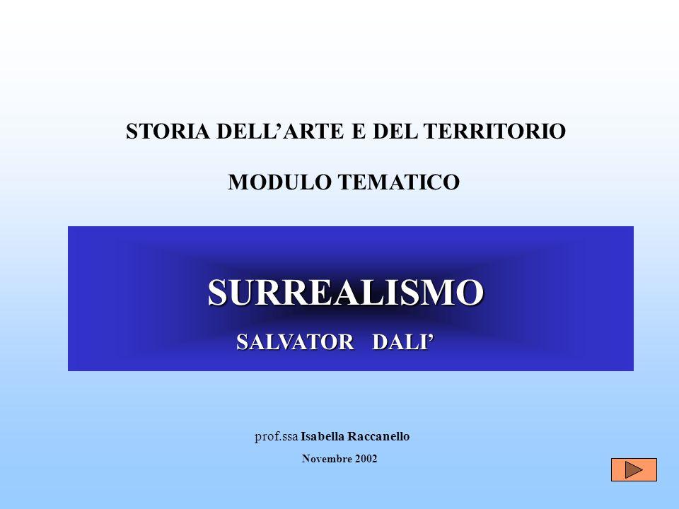 SURREALISMO STORIA DELL'ARTE E DEL TERRITORIO MODULO TEMATICO