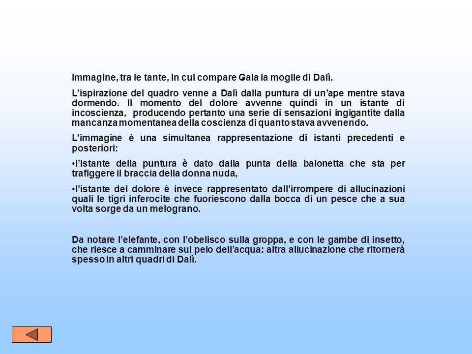 Immagine, tra le tante, in cui compare Gala la moglie di Dalì.