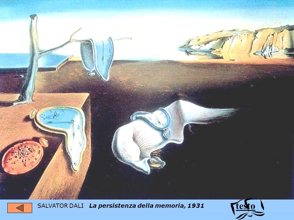 testo SALVATOR DALI La persistenza della memoria, 1931