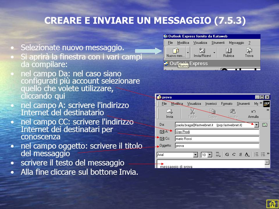 CREARE E INVIARE UN MESSAGGIO (7.5.3)