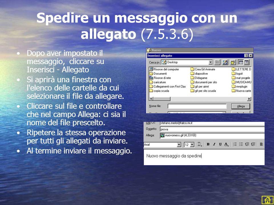 Spedire un messaggio con un allegato (7.5.3.6)