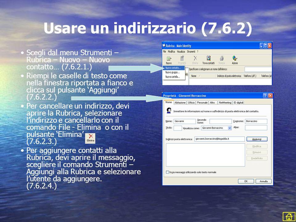 Usare un indirizzario (7.6.2)
