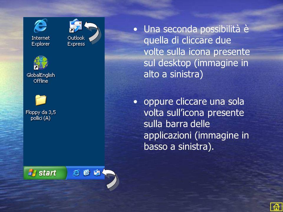 Una seconda possibilità è quella di cliccare due volte sulla icona presente sul desktop (immagine in alto a sinistra)