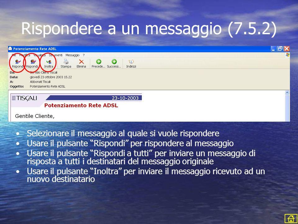 Rispondere a un messaggio (7.5.2)