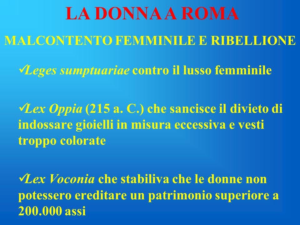 MALCONTENTO FEMMINILE E RIBELLIONE