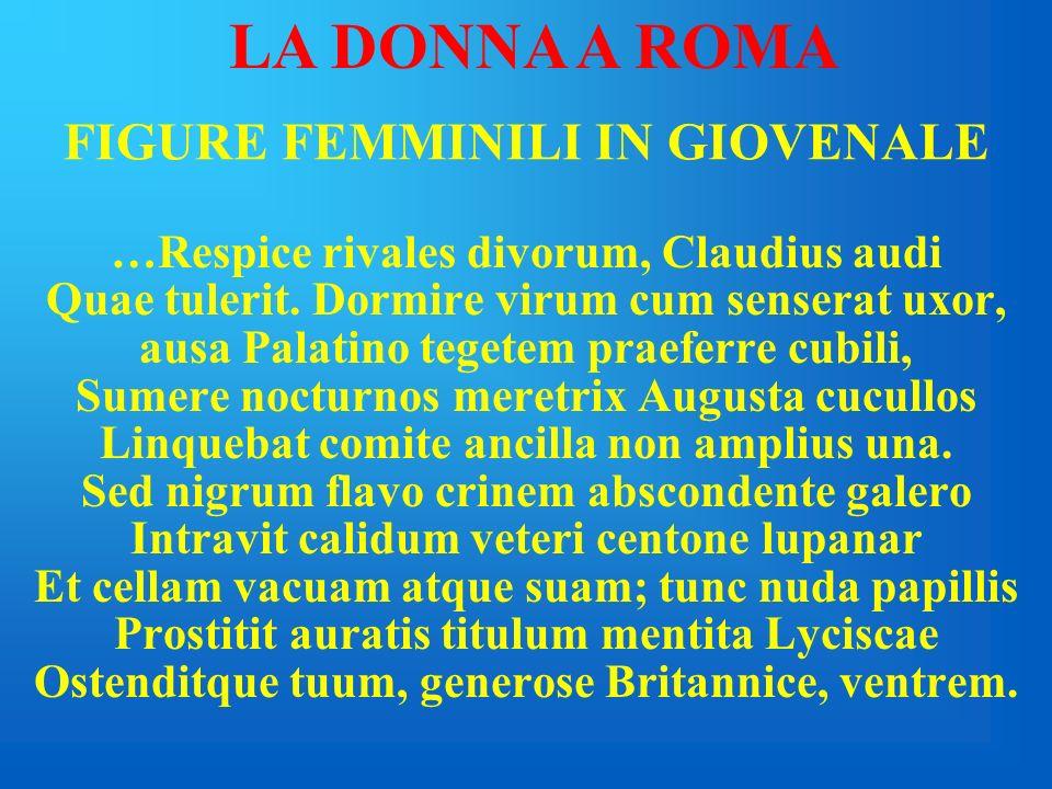 FIGURE FEMMINILI IN GIOVENALE